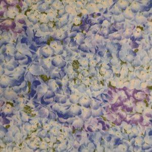 Tessuto in cotone americano - fiori - ortensie - Filomania