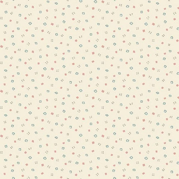Tessuto in cotone americano - punti irregolari - Filomania