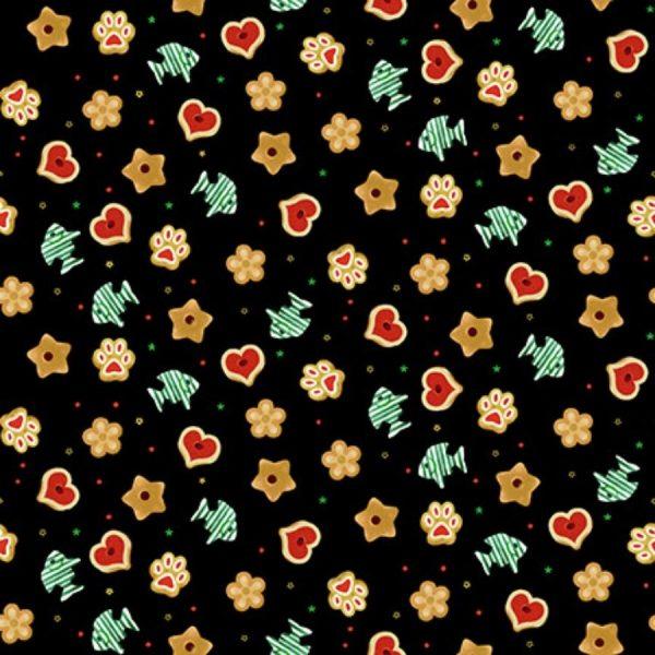 Tessuto in cotone americano - stelle - cuori - Filomania