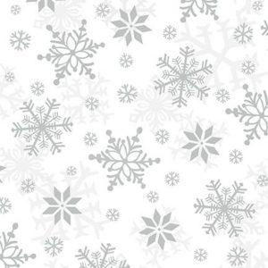 Tessuto in cotone flanellato americano - fantasia - ghiaccio - grigio - Filomania