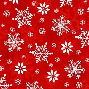 Tessuto in cotone flanellato americano - fantasia - ghiaccio - rosso - Filomania
