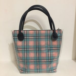 Box Creative - borsa della settimana - check rosa - azzurro - Filomania