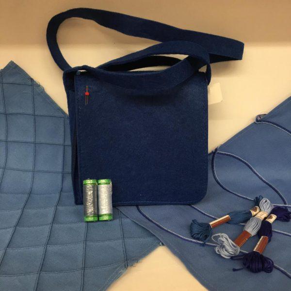 Box Creative - tovaglietta - borsa - blu - Filomania