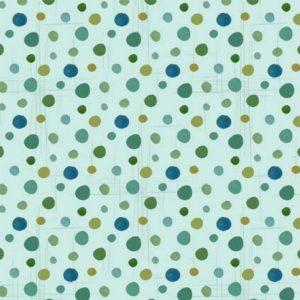 Tessuto in cotone americano - pois - verde acqua - Filomania