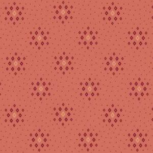 Tessuto americano - Kim Diehl - rombi - rosa antico - Filomania