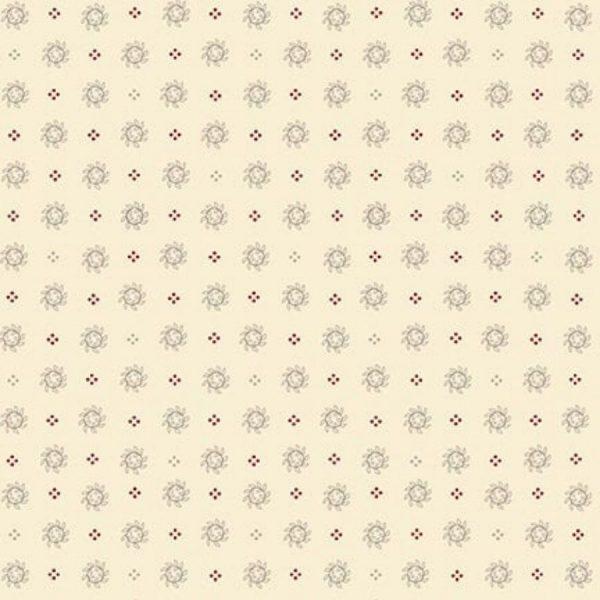 Tessuto cotone - Kim Diehl - Ghirlanda - beige - Filomania
