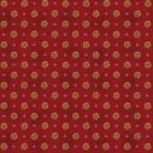 Tessuto cotone - Kim Diehl - corone di alloro - bordeaux - Filomania