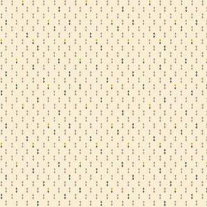 Tessuto cotone - Kim Diehl - doppi diamanti - beige - Filomania