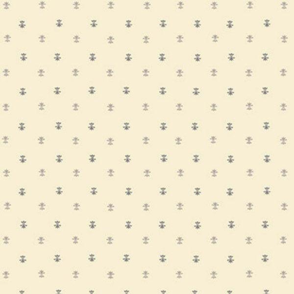 Tessuto cotone - Kim Diehl - fiori di Lis - beige - Filomania