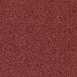 Tessuto cotone - Kim Diehl - paisley - bordeaux - Filomania