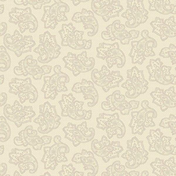 Tessuto cotone - Kim Diehl - punteggiato paisley - beige - Filomania