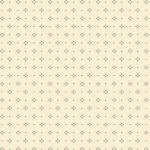 Tessuto cotone - Kim Diehl - punti e caselle - beige - Filomania