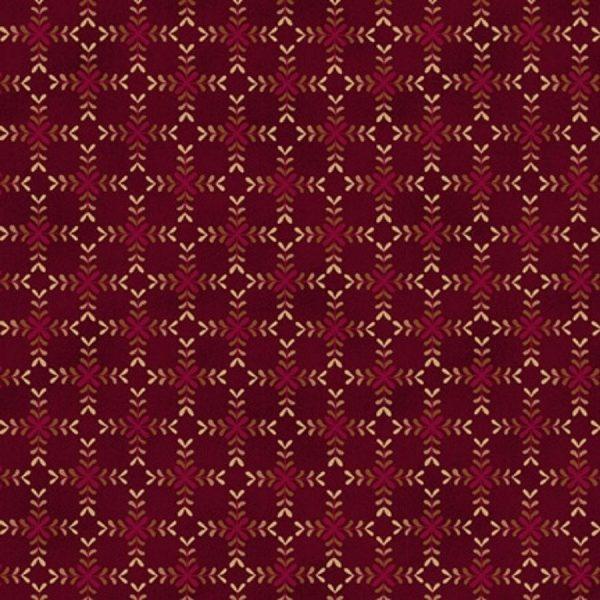 Tessuto cotone - fiori di diamante - bordeaux - Filomania