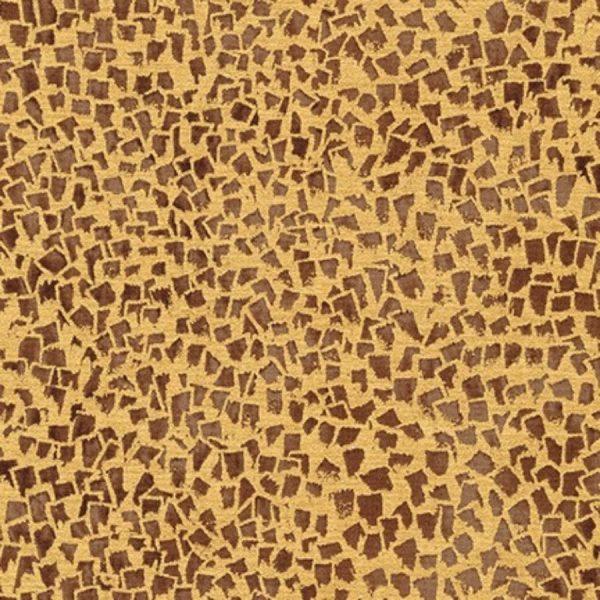 Tessuto in cotone americano - mosaico - oro - marrone - Klimt - Filomania