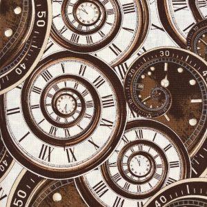 Tessuto in cotone americano - orologi - Filomania