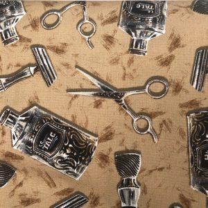 Tessuto in cotone americano - parrucchiere - Filomania