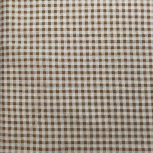 Tessuto in cotone americano - quadretto - beige - Filomania