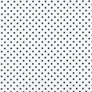 Tessuto in cotone - bianco - pois - nero - Filomania