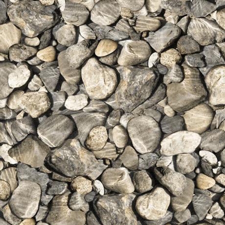 Tessuto Cotone - sassi - grigio - Filomania
