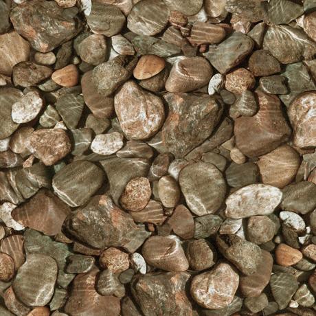 Tessuto Cotone - sassi - marrone - Filomania