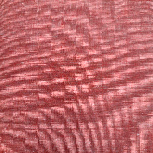 Tessuto americano - cotone - trama di lino - arancio - Filomania