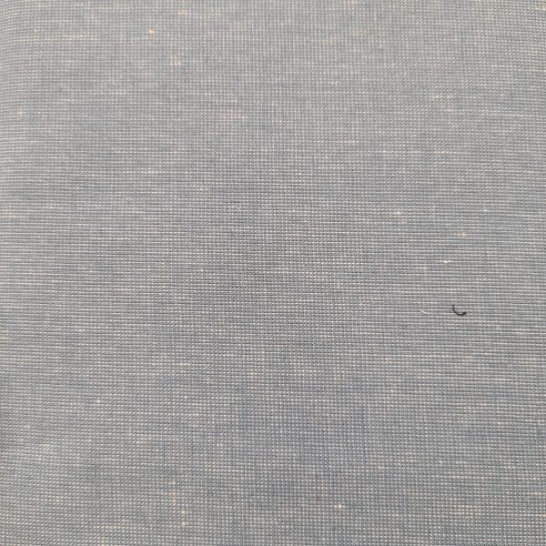 Tessuto americano - cotone - trama di lino - azzurro - Filomania