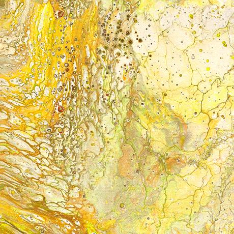 Tessuto cotone americano - crackle - giallo - Filomania