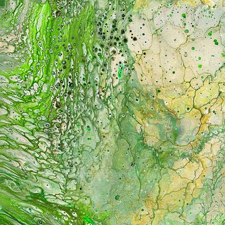 Tessuto cotone americano - crackle - verde - Filomania