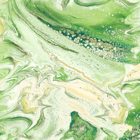 Tessuto cotone americano - effetto onda - verde - Filomania