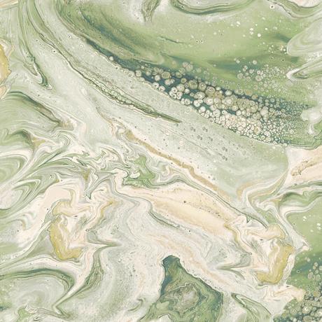 Tessuto cotone americano - effetto onda - verdone - Filomania
