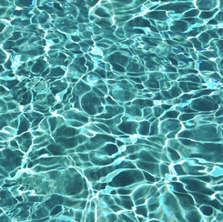 Tessuto in cotone americano - acqua - piscina - laguna - Filomania