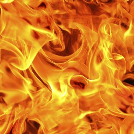Tessuto in cotone americano - fiamma - fuoco - Filomania