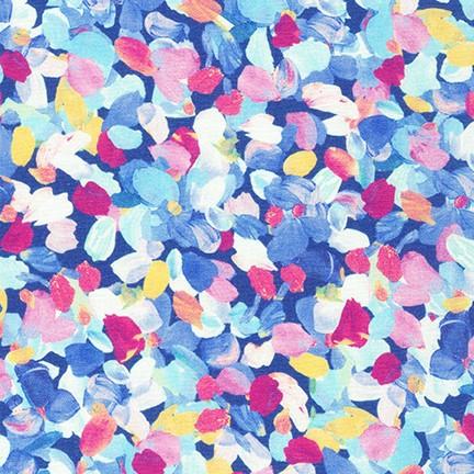 Tessuto in cotone americano - watercolor - monet - azzurro - Filomania