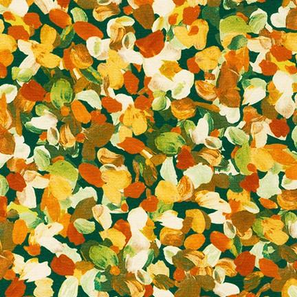 Tessuto in cotone americano - watercolor - monet - giallo - Filomania