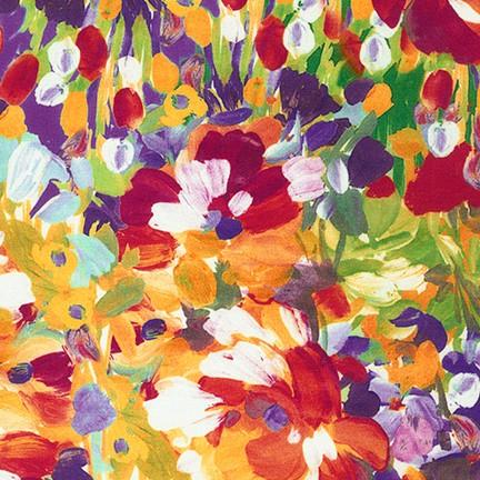 Tessuto in cotone americano - watercolor - monet - multicolor - Filomania