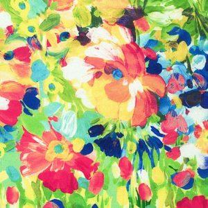 Tessuto in cotone americano - watercolor - monet - multicolor - rosa - Filomania