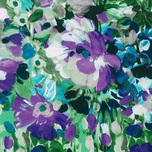 Tessuto in cotone americano - watercolor - monet - multicolor - viola - Filomania