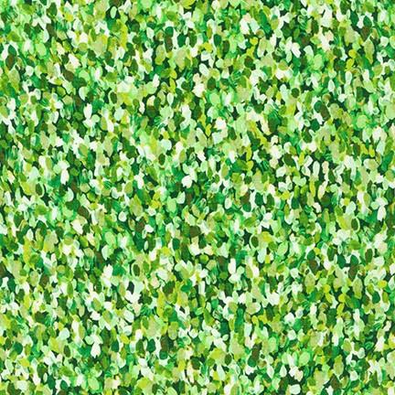 Tessuto in cotone americano - watercolor - monet - verde - Filomania