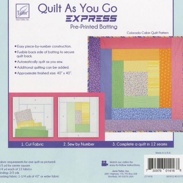 Quilt as you go - Colorado Cabin - Filomania