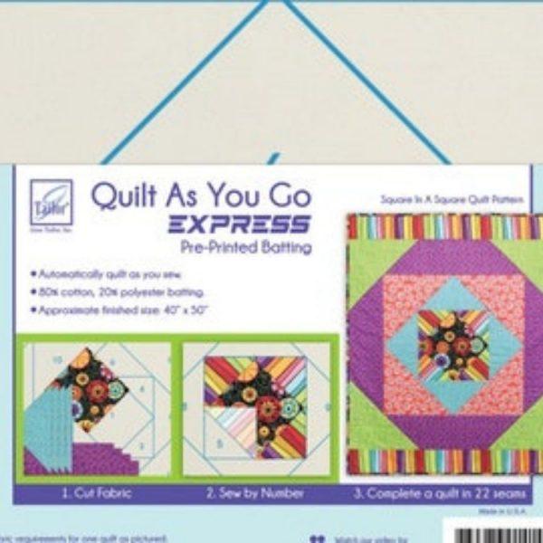 Quilt as you go - Square in a square - Filomania